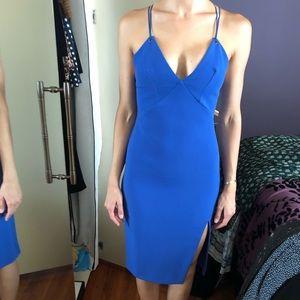Blue strappy top shop midi dress